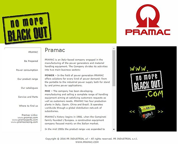 No more blackout-Pramac-Power Solutions