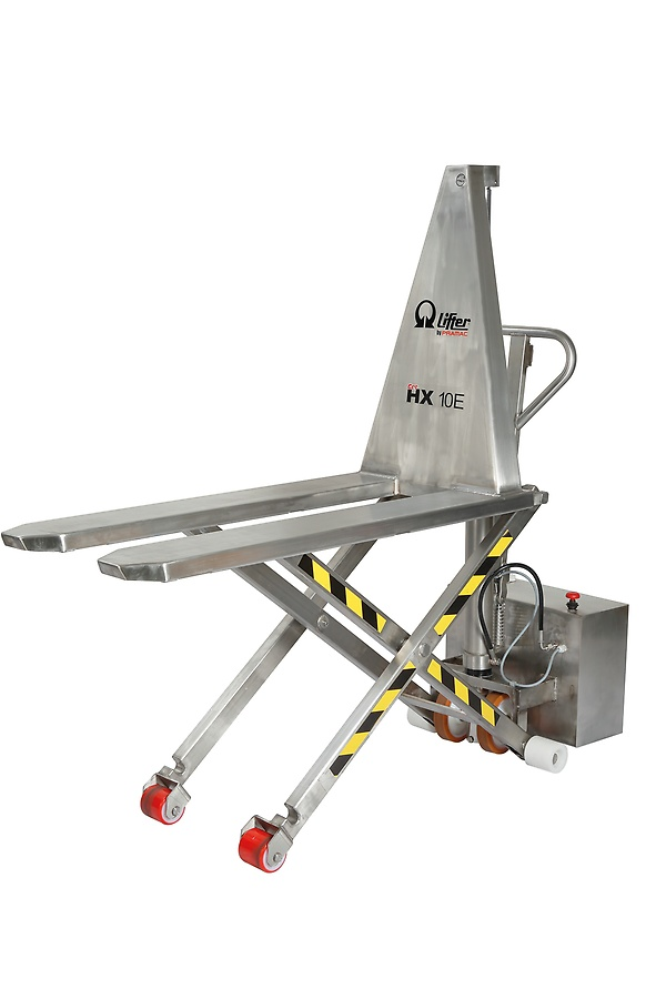 Scissor lift pallet truck in stainless steel AISI304