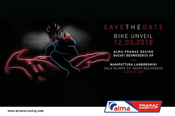 Pramac Racing - Save the date - Presentation 2018- Alma Pramac Racing