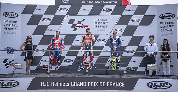 Pramac Racing's first podium with Danilo Petrucci in the Le Mans GP.