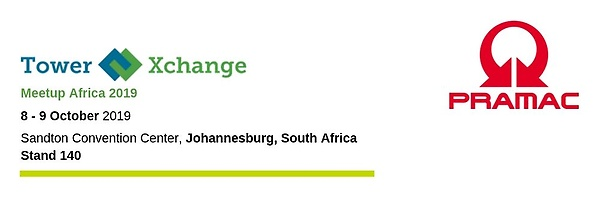 Pramac will be present at TowerXchange 2019 in Johannesburg, South Africa, the 9-9 October 2019