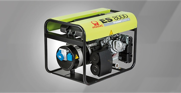 The Pramac ES series - Compact generators with generous fuel tank  and a basic configuration. The perfect economic solution when you need a long lasting professional power supply